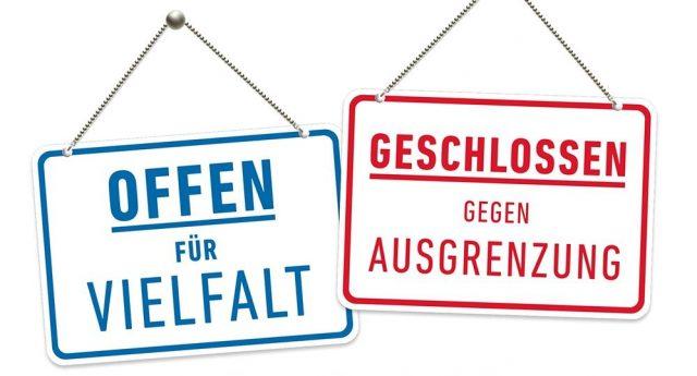 """Aktion """"Offen für Vielfalt"""""""